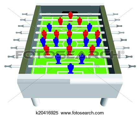 Clipart of Table Football Soccer Game k20416925.