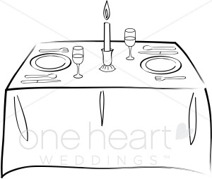 Table for Two Clipart.