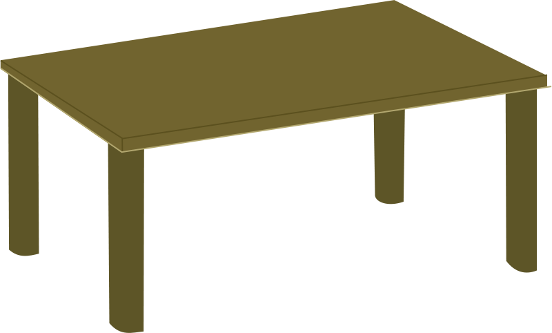 Free Clipart: Wooden table.
