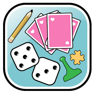 Table games center clipart.