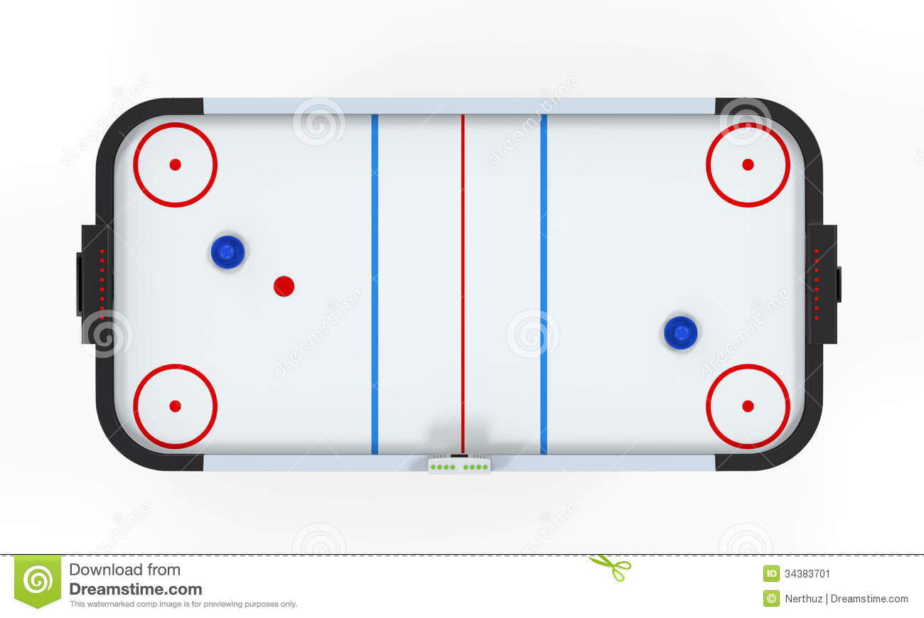 Air Hockey Table Stock Illustrations.