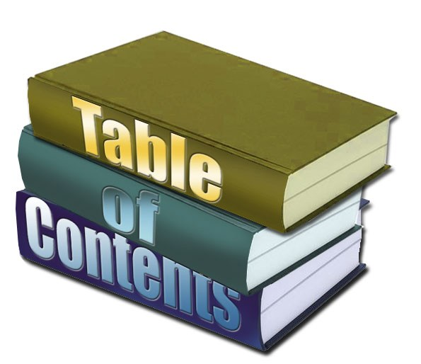 Table of contents clipart 2 » Clipart Station.