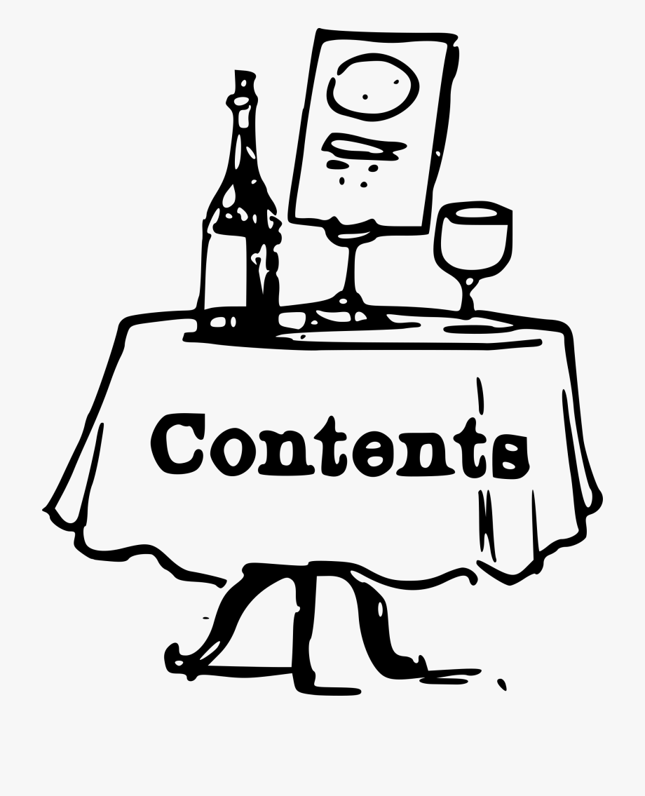 Clipart Contents On A Table.