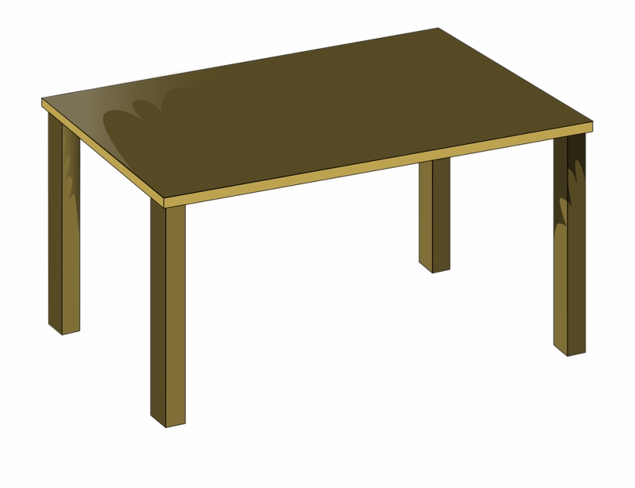 Free Vector Graphic School Table Clipart.