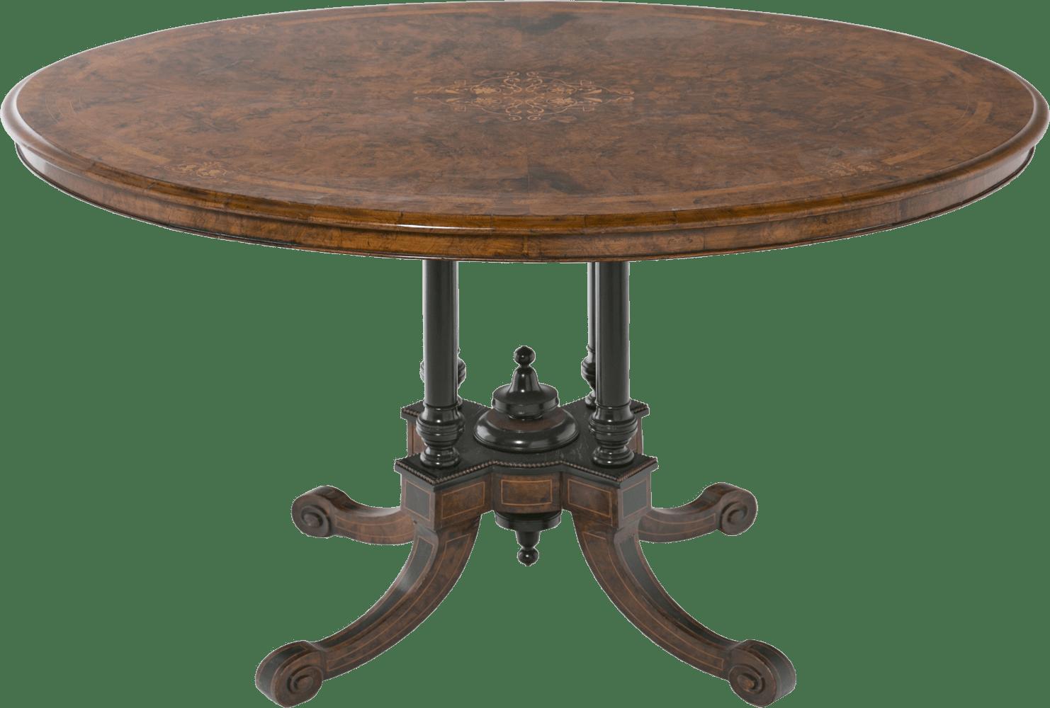 Antique Wooden Table transparent PNG.