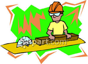 Man Using a Table Saw.