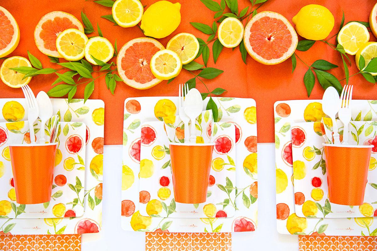 Summer of Citrus: DIY Party Tablescape.