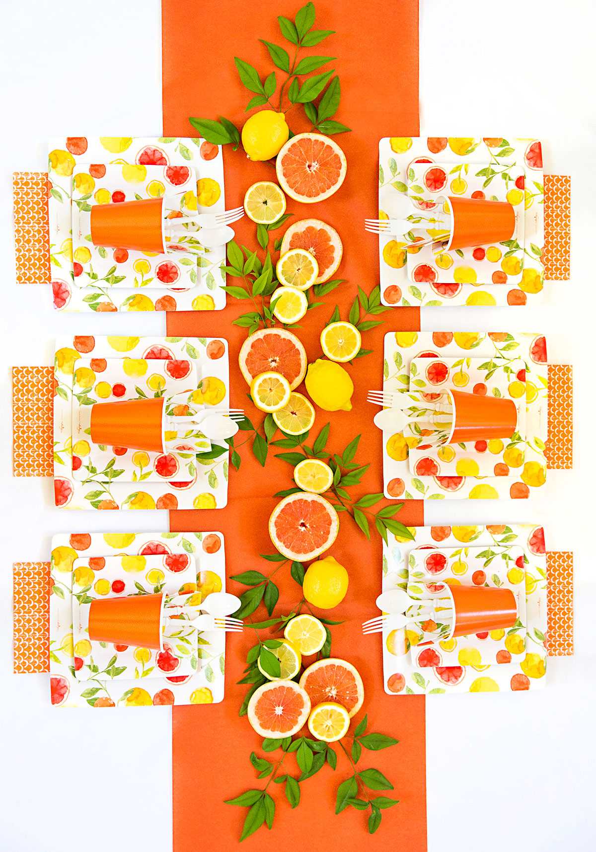 Summer of Citrus: DIY Party Tablescape.