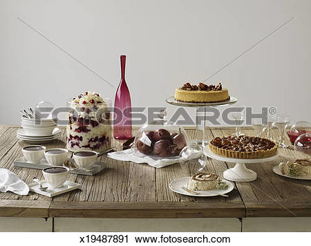 Stock Photography of Holiday Dessert Tablescape x19487891.
