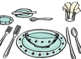 Table Service Clipart.