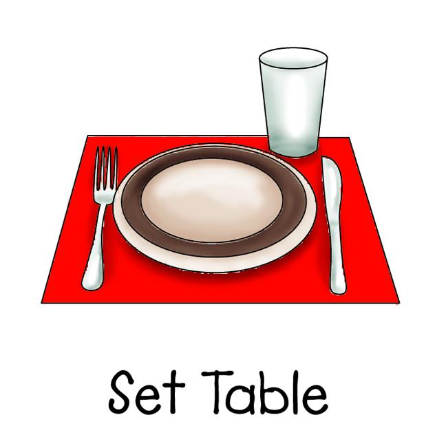 Table Set Clipart on Preschool Job Chart