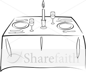 Table Set for Two.