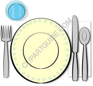 Clipart set table.
