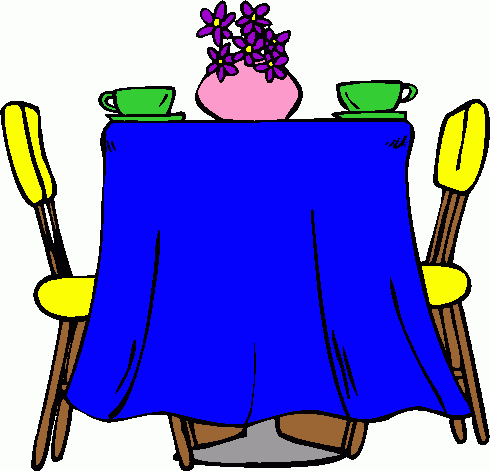 Set Kitchen Table Clipart.