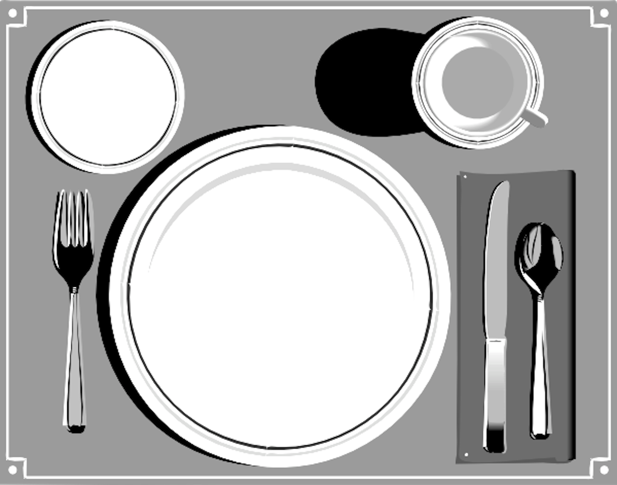 Free table setting clipart 1 » Clipart Station.