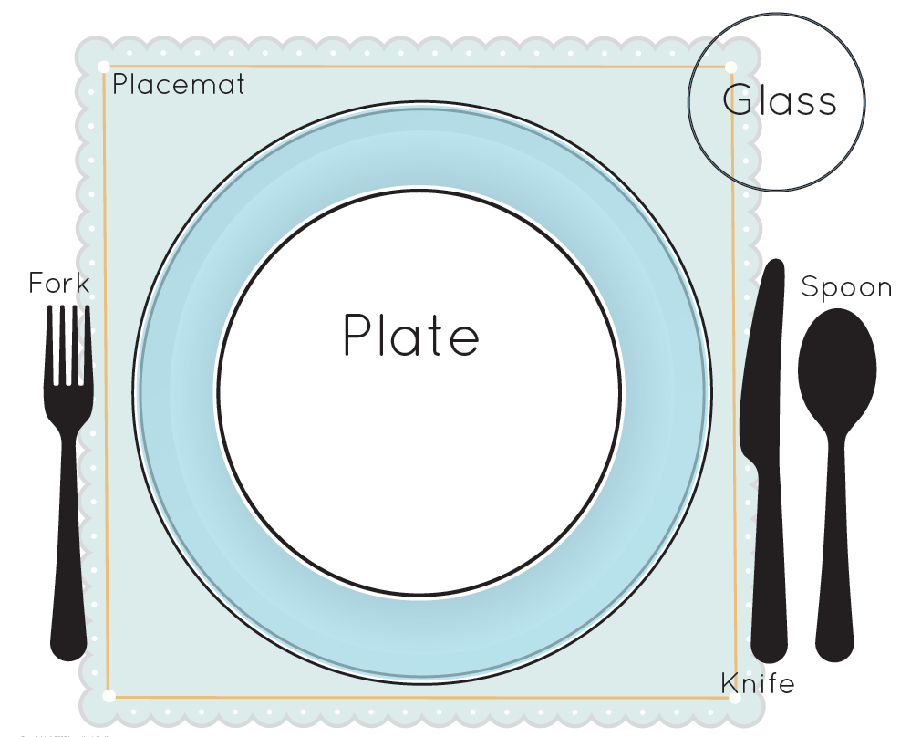 Wedding dinner table setting clipart png.