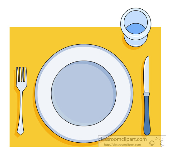 Table Setting Clipart Clipground