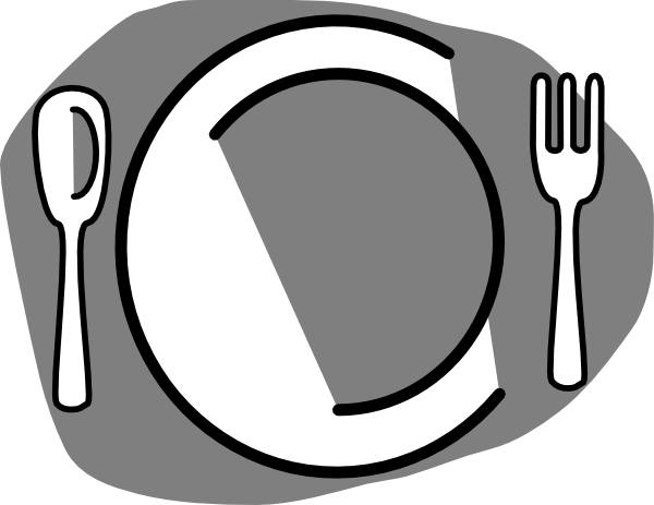 Clipart Dinner Table Setting Clipground