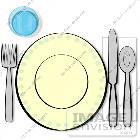 Table Setting Clipart.