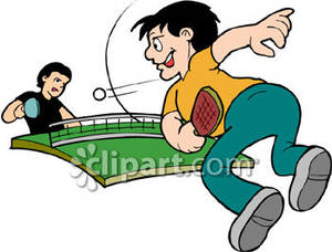 Playing Table Tennis.