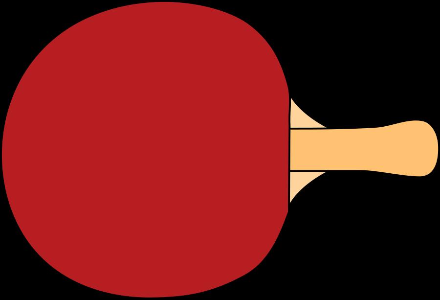 Table tennis racquet Clipart, vector clip art online, royalty free.