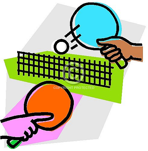 Table Tennis Free Clipart.