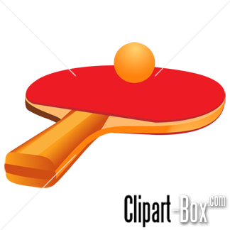 CLIPART TABLE TENNIS RACKET.