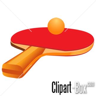 CLIPART TABLE TENNIS RACKET.