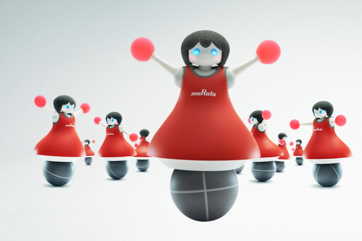 Murata\'s dancing robotic cheerleaders showcase advanced.