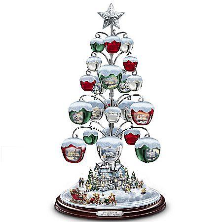 Thomas Kinkade Jingle All The Way Bell Ornament Tabletop.