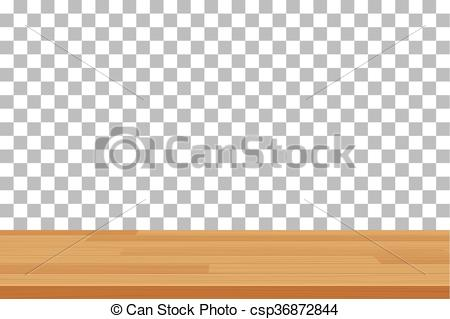 EPS Vector of vector wood table top on isolated background.
