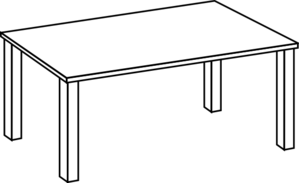 Clipart table top.