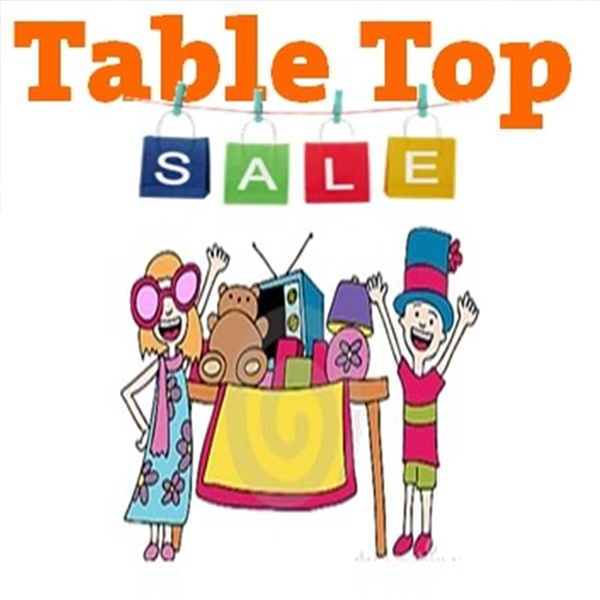 Table Top Sale.