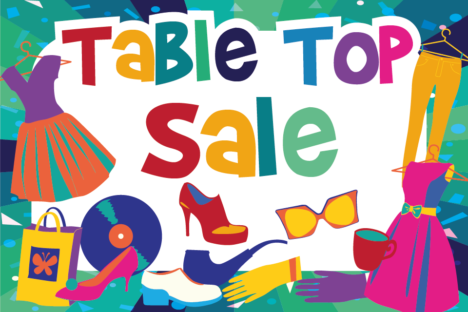 Table Top Sale Clipart.