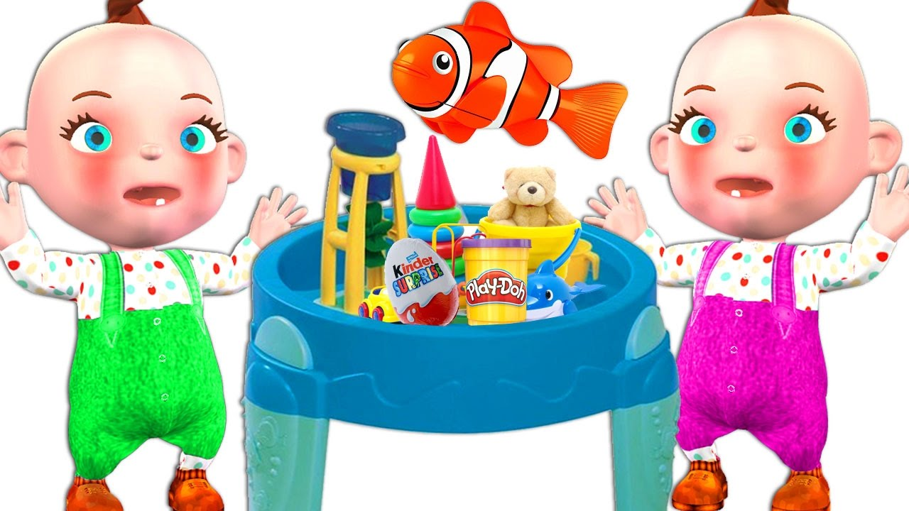 Funny Little Babies Water Table Toys For Kids Street Vehicles.