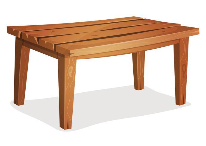 Cartoon Wood Table.