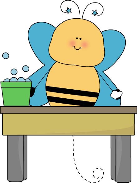 Bee Table Washer Clip Art.