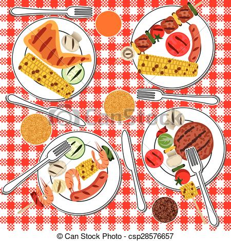 Clipart Vector of BBQ party.