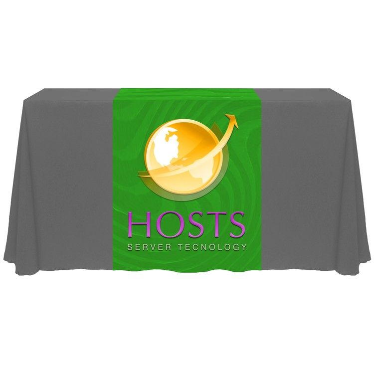 Custom Printed Table Runner with logo #printedtablerunner.