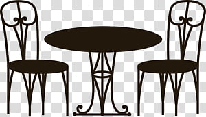 Round brown wooden coffee table illustration, Icon, Kang.