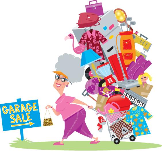 Garage sale items clipart clipartfest.