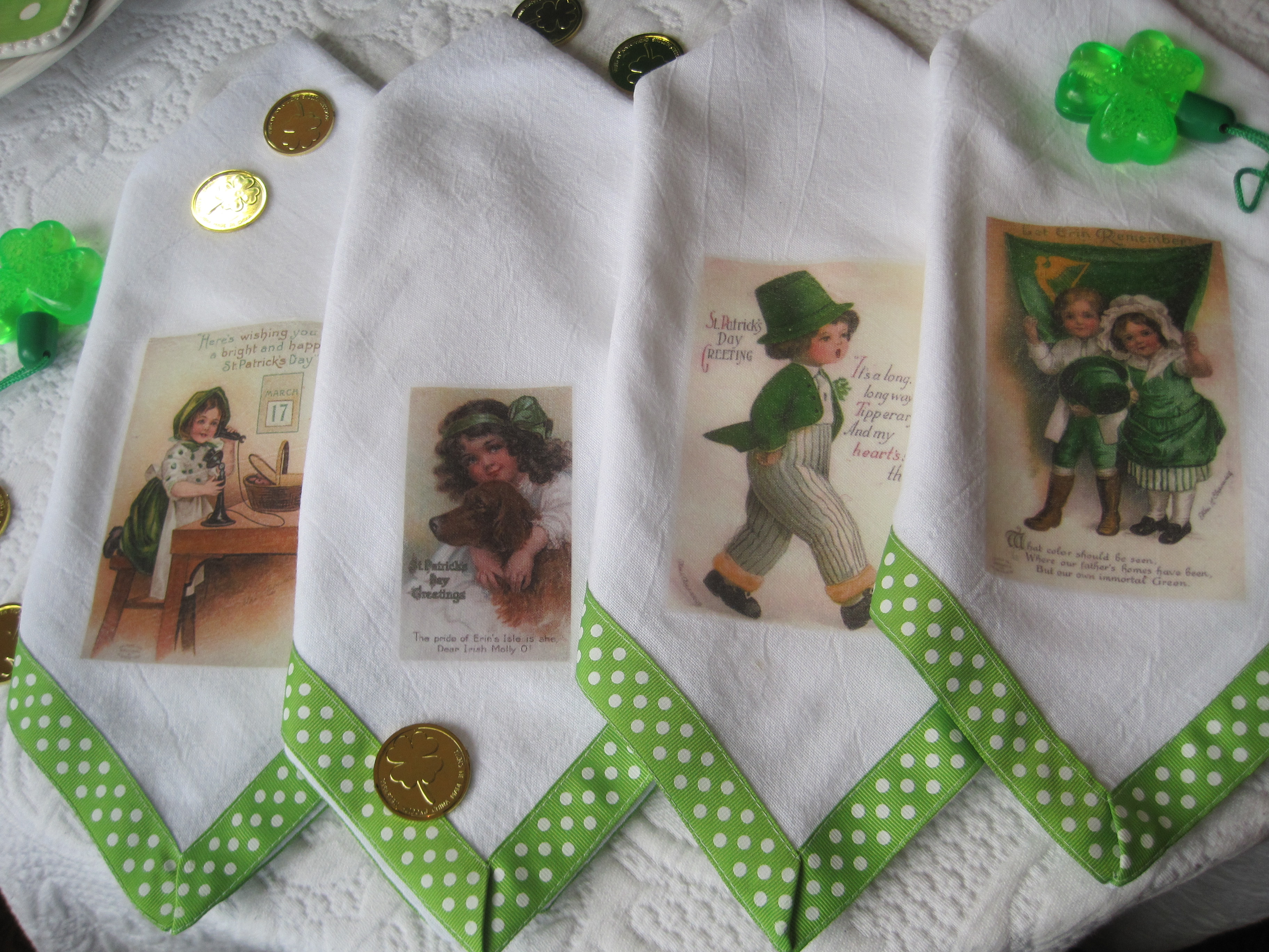 Opulent Cottage: St. Patrick's Day Tablescape and a Holiday Napkin.