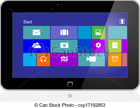 Tablet Pc Clipart.