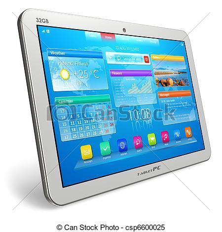 Tablet Computer Clip Art.