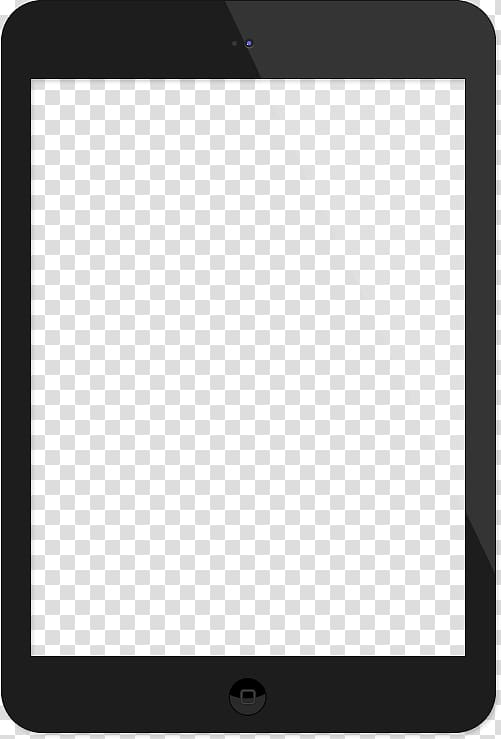Black iPad illustration, Product Design Black and white.