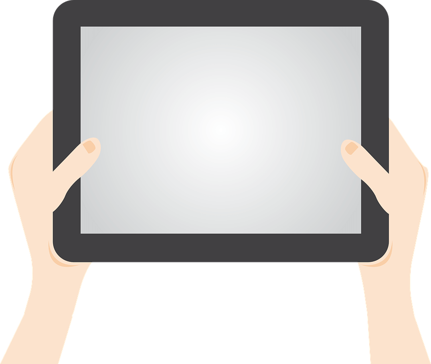 Ipad Cartoon clipart.