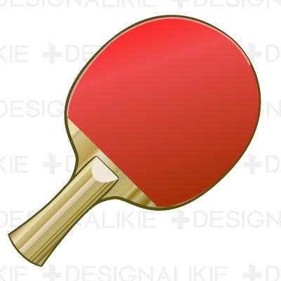 Table Tennis Bat Clipart.