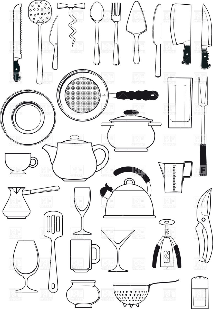 Tableware Clip Art.
