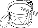 Free Black and White Music Outline Clipart.