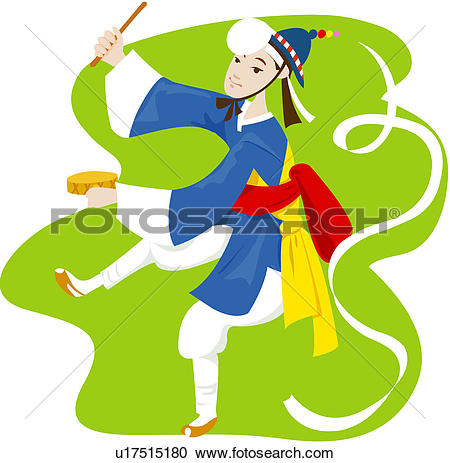 Clipart of letter of invitation, hat, tabor, farm music, card.